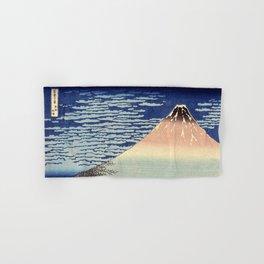 Red Fuji Mountain. Gaifû kaisei. Katsushika Hokusai. Ôban yoko-e Hand & Bath Towel