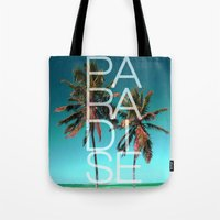 paradise Tote Bags featuring PARADISE by Chrisb Marquez
