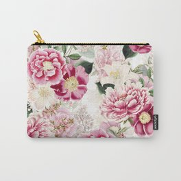 Vintage & Shabby Chic - Pink Chinoserie Flower Pattern Carry-All Pouch