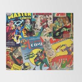 Comics Collage Throw Blanket