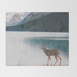 Bowman Lake Visitor Throw Blanket