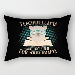 Llama Teacher funny quote gift idea Rectangular Pillow