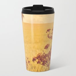 By the side of the wheat field. Travel Mug