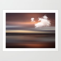 SEASCAPE - abstract landscape in glowing copper tones Art Print