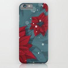 Poinsettias - Christmas flowers | BG Color II iPhone 6s Slim Case