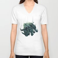 gravity V-neck T-shirts featuring Gravity by Philipp Banken