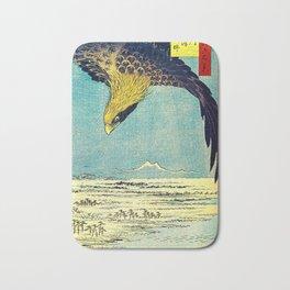 Hiroshige, Hawk Flight Over Field Bath Mat