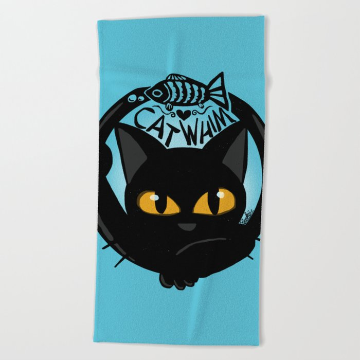 Whim with a fish Beach Towel