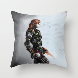 Our Commander Shepard Throw Pillow