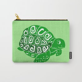 Green Turtle Art Carry-All Pouch