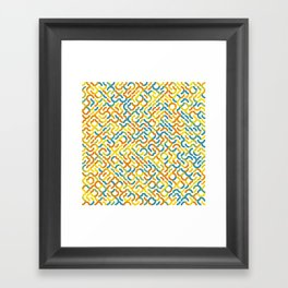 Rotated Arcs 01, Seed 2/31 Framed Art Print