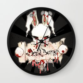 Dead Bunny Holding The Sign Wall Clock