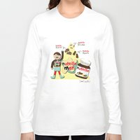 nutella Long Sleeve T-shirts featuring I {❤} NUTELLA by lilycious