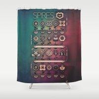 spires Shower Curtains featuring SPIRES IRRIGATION (2014) by Spires