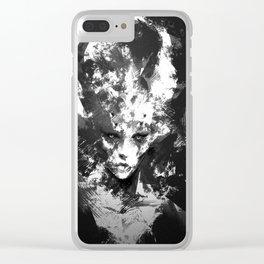 D E V I L Clear iPhone Case