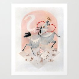 What to expect when you get married on a giant mule Art Print