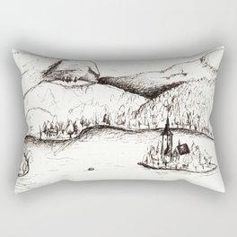 Lake Bled Rectangular Pillow