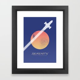 Serenity - Firefly ship Framed Art Print