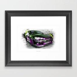 Cars: 2015 Mitsubishi Lancer Evolution Framed Art Print