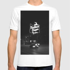 Portland BW MEDIUM Mens Fitted Tee White