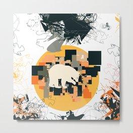 Little white bear Metal Print