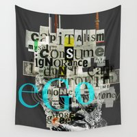 motivation Wall Tapestries featuring Mankind Motivation X4 by Marko Köppe
