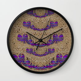 Pearl lace and smiles in peacock style Wall Clock
