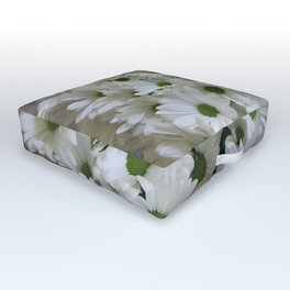 White Daisy Outdoor Floor Cushion