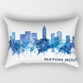 Baton Rouge Louisiana Skyline Blue Rectangular Pillow