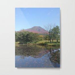 Autumn landscape in Japan Metal Print
