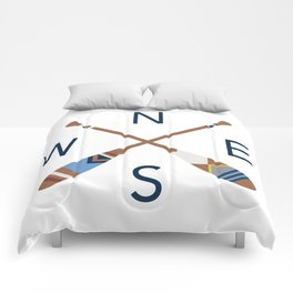 Oar Compass Comforters