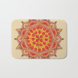 Sacred Pizza Bath Mat
