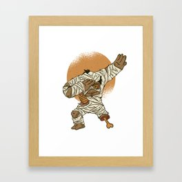 Dab Dabbing Mumie Halloween Tanzen Dance Trend Framed Art Print