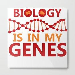 Biology Biologist Nature Gift Botany Funny Metal Print
