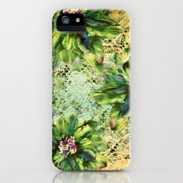 Green Flowers of the Grandmother Garden! iPhone Case