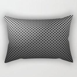 Metal Dotted Silver Rectangular Pillow