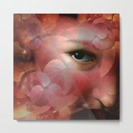 """Lady in autumn rose"" Metal Print"