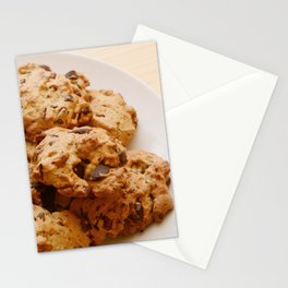 Chocolate chip and pecan cookies Stationery Cards