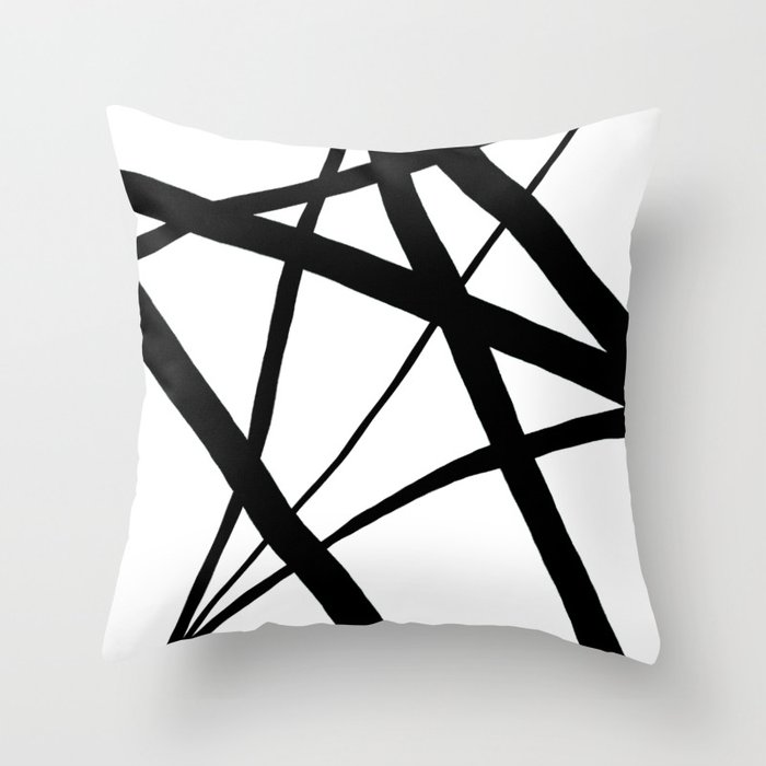 A Harmony of Lines and Shapes Throw Pillow