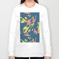 camo Long Sleeve T-shirts featuring Bright Camo by lalaprints