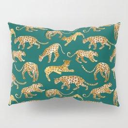 Jaguars in Jade Pillow Sham