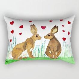 Hares in Love Rectangular Pillow