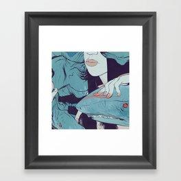 Peaceoffering: Sharks! Women! Danger. Framed Art Print