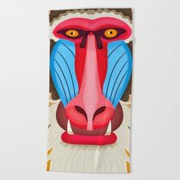 Baboon Head Beach Towel