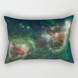 Hubble Space Photograph - Heart and Soul Nebulae Rectangular Pillow