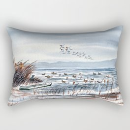 Duck Hunting For Canvasbacks Rectangular Pillow