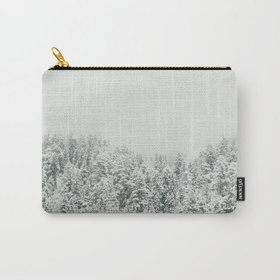 White Snowy Landcape Carry-All Pouch