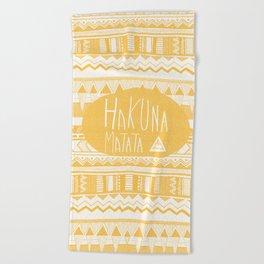 Hakuna Matata Yellow Beach Towel