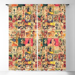 Retro Ads Blackout Curtain