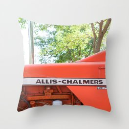 Allis - Chalmers Vintage Tractor Throw Pillow